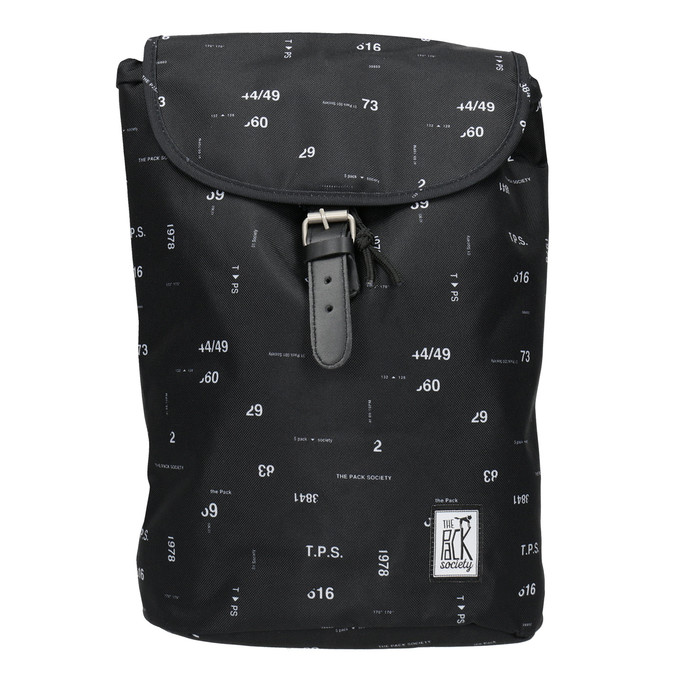 Unisex Backpack with Print, black , 969-6080 - 26