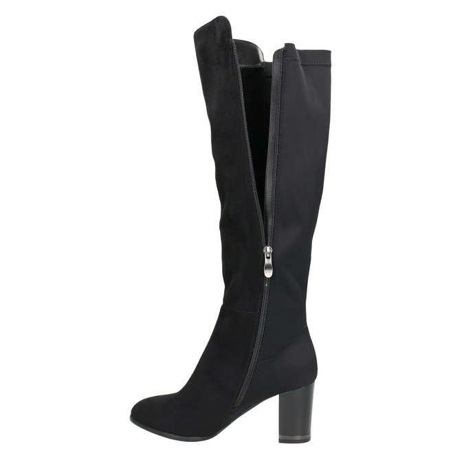 High boots with elastic parts bata, black , 699-6635 - 26