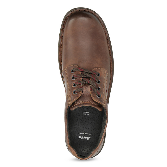 Brown leather shoes bata, brown , 826-4918 - 17