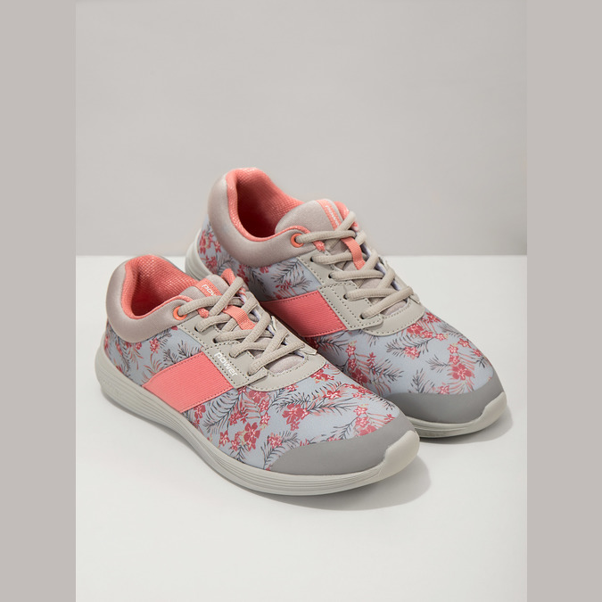 Sneakers with a floral pattern power, gray , 509-2203 - 18