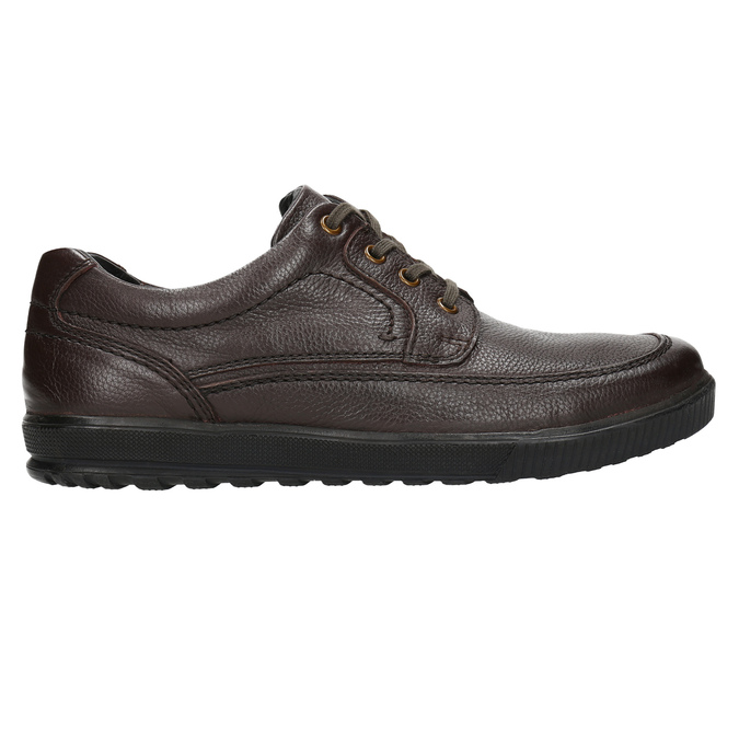 Casual leather shoes bata, brown , 824-4925 - 15