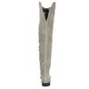 Grey over-knee high boots bata, gray , 593-2605 - 17