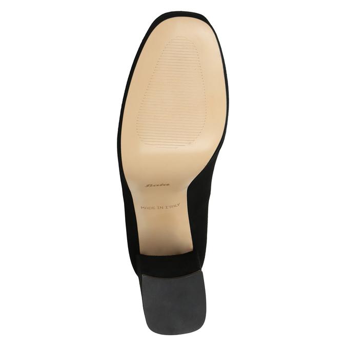 Leather Pumps with Chunky Heel bata, black , 723-6950 - 17