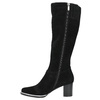 Black brushed leather high boots bata, black , 693-6603 - 19
