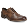 Men's leather shoes with stitching bata, brown , 826-4610 - 13