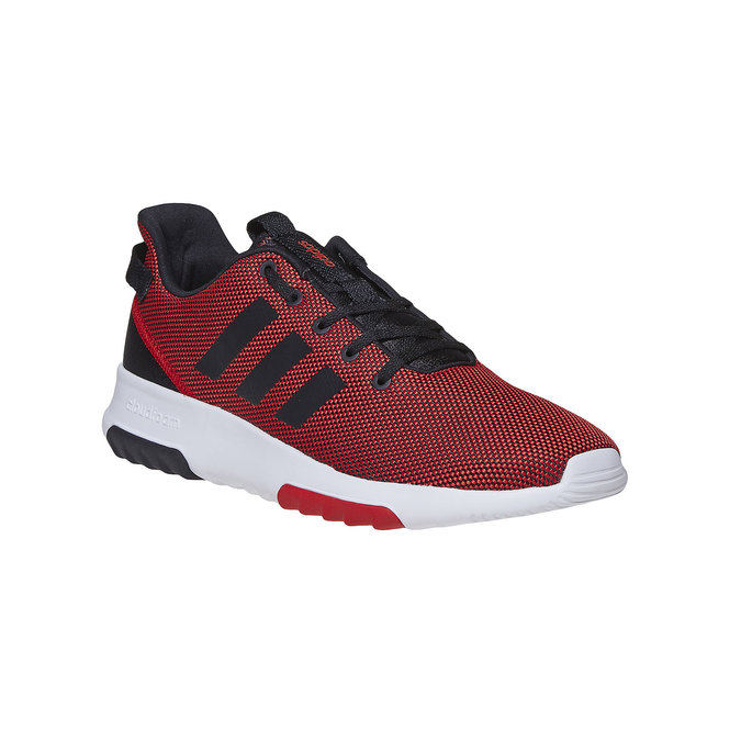 Men's red sneakers adidas, red , 809-5201 - 13