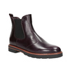 Leather burgundy Chelsea Boots bata, red , 596-5657 - 13
