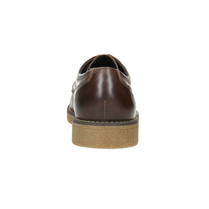 Brown Leather Shoes bata, brown , 826-4620 - 17
