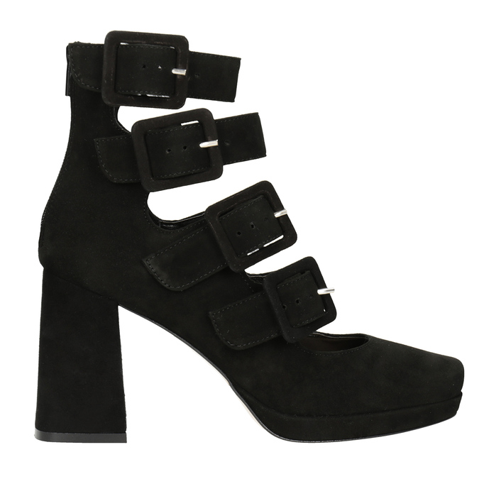 Black Pumps with Buckles bata, black , 723-6984 - 26