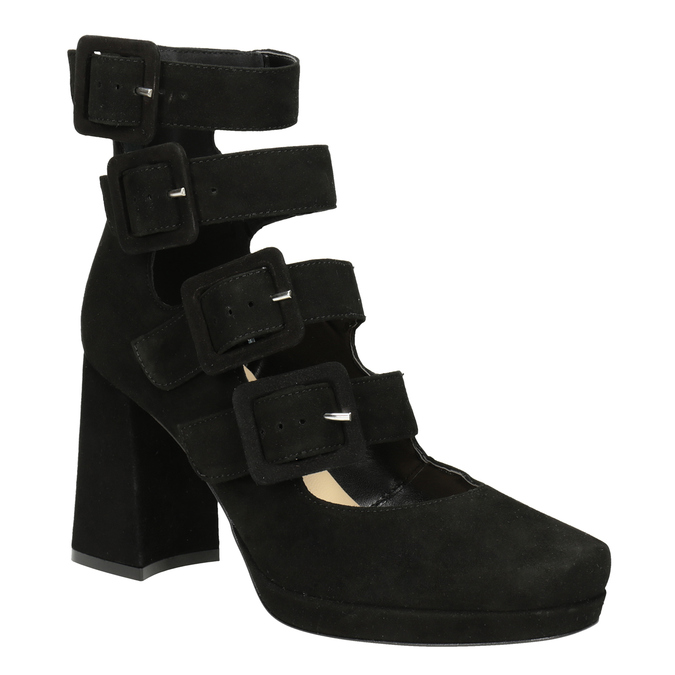 Black Pumps with Buckles bata, black , 723-6984 - 13