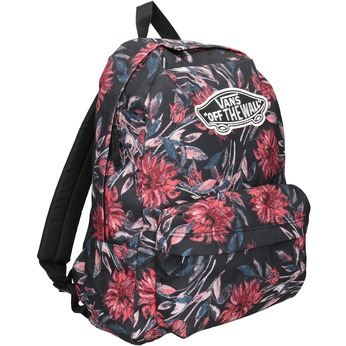 Backpack with Floral Pattern vans, black , 969-6082 - 13