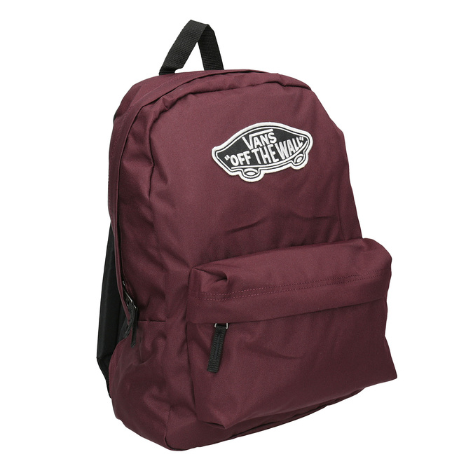 Burgundy Backpack with Patch vans, red , 969-5092 - 13