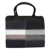 Leather Handbag with Ombré Effect fredsbruder, black , 966-6056 - 26