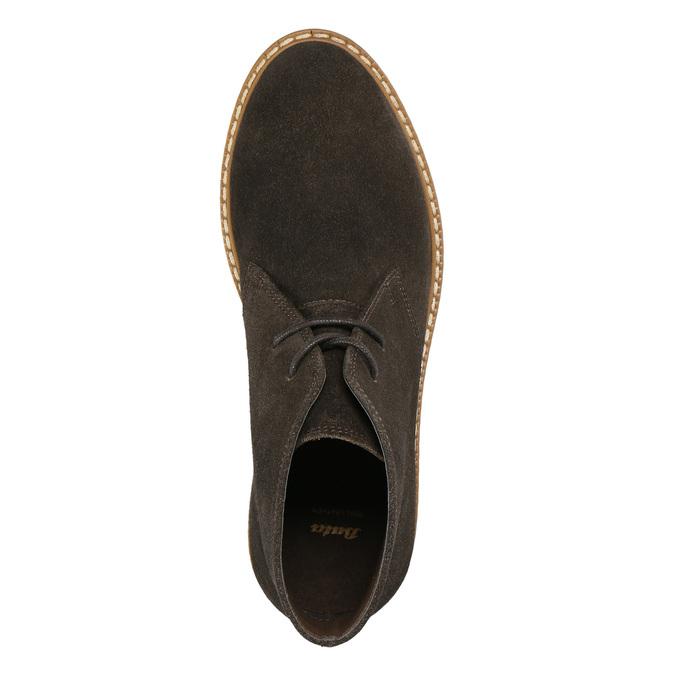 Ladies' Leather Chukka Boots bata, brown , 593-4608 - 26
