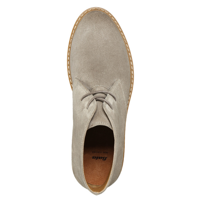 Ladies' Leather Chukka Boots bata, gray , 593-2608 - 26