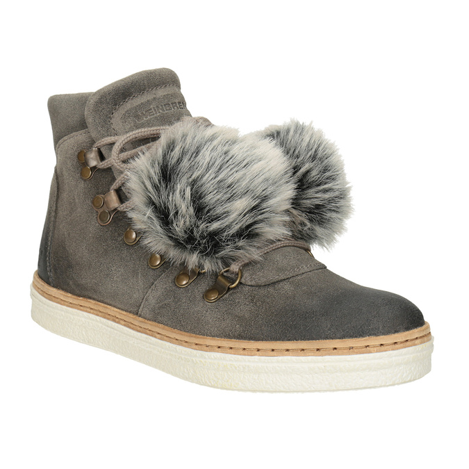Ladies' Lace-Up Winter Boots weinbrenner, gray , 596-2674 - 13
