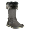Girls' Leather High Boots with Fleece mini-b, gray , 396-2191 - 13