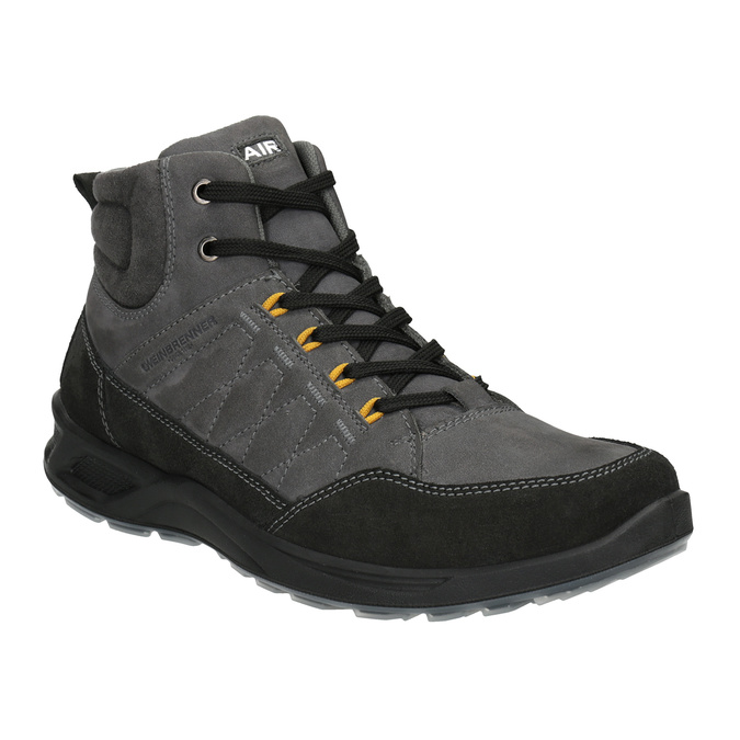Men's Leather Outdoor Boots weinbrenner, gray , 846-2647 - 13