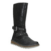 Girls' High Boots with a Sturdy Sole mini-b, black , 391-6657 - 13