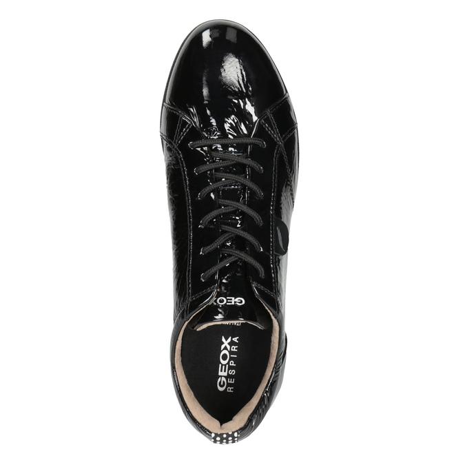 Black Leather Sneakers geox, black , 528-6083 - 15