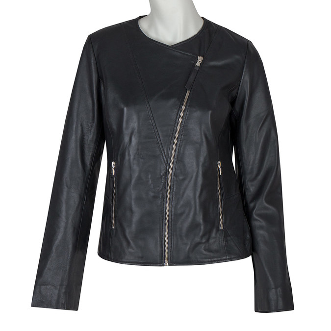 Ladies' Leather Jacket, black , 974-6177 - 13
