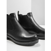 Ladies' leather Chelsea boots with massive sole bata, black , 596-6677 - 14