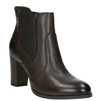 Leather Ankle Boot with Heel bata, brown , 796-4647 - 13