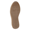 Ladies' leather flatform shoes bata, gray , 596-2673 - 17