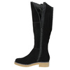 Ladies' Leather High Boots bata, black , 593-6606 - 26