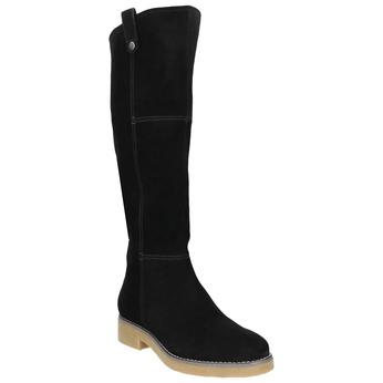 Ladies' Leather High Boots bata, black , 593-6606 - 13