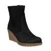 Ladies' Leather Wedge Boots bata, black , 793-6608 - 13