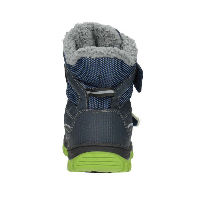 Children's winter boots with Velcro mini-b, blue , 491-9654 - 16