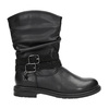 Girls' high boots with rhinestones mini-b, black , 291-6397 - 26