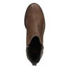 Leather ankle boots with zip flexible, brown , 594-4227 - 15