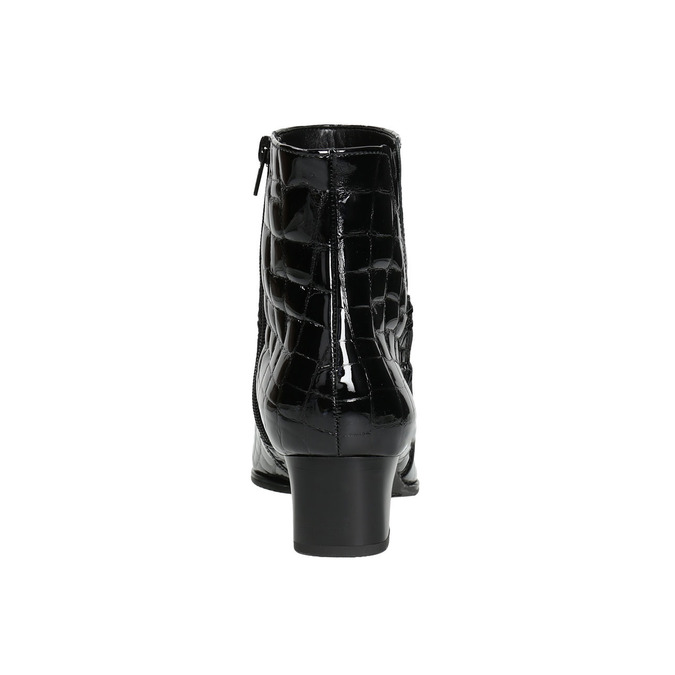 Ladies' Patent Leather High Boots gabor, black , 618-6002 - 17