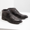Textured leather ankle boots bata, gray , 826-2616 - 18