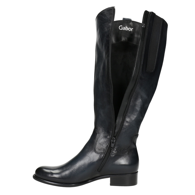 Ladies' leather high boots gabor, black , 694-6193 - 26