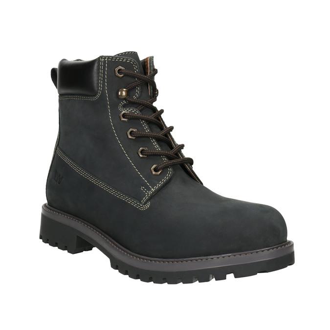 Men's leather winter boots weinbrenner, black , 896-6656 - 13