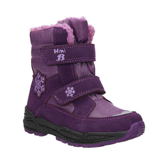 Girls' Purple Snow Boots mini-b, violet , 291-9625 - 13