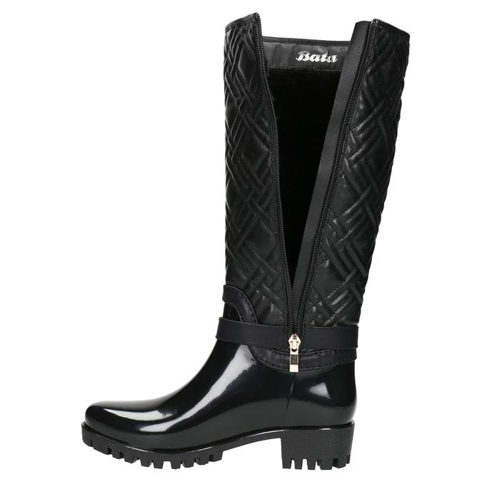 Ladies' Wellington Boots with Quilting bata, black , 592-6401 - 26