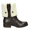 Ladies' Insulated Leather High Boots manas, brown , 593-3609 - 26