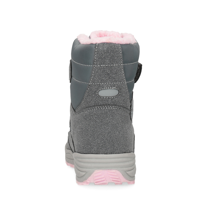 Girls' Snow Boots with Fleece mini-b, gray , 291-2625 - 15