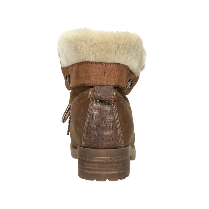Ankle Boots with Fleece bata, brown , 591-4618 - 17