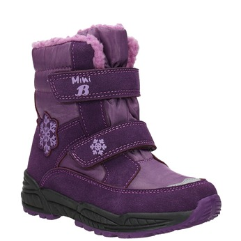 Girls' Purple Snow Boots mini-b, violet , 291-9625 - 13