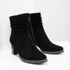 Leather ankle boots bata, black , 693-6602 - 18
