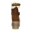 Ladies' Winter Boots with Buckle bata, brown , 699-4637 - 17