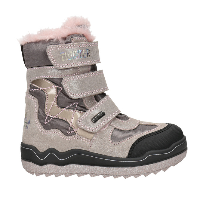 Pink Girls' Winter Boots mini-b, red , 299-5613 - 15