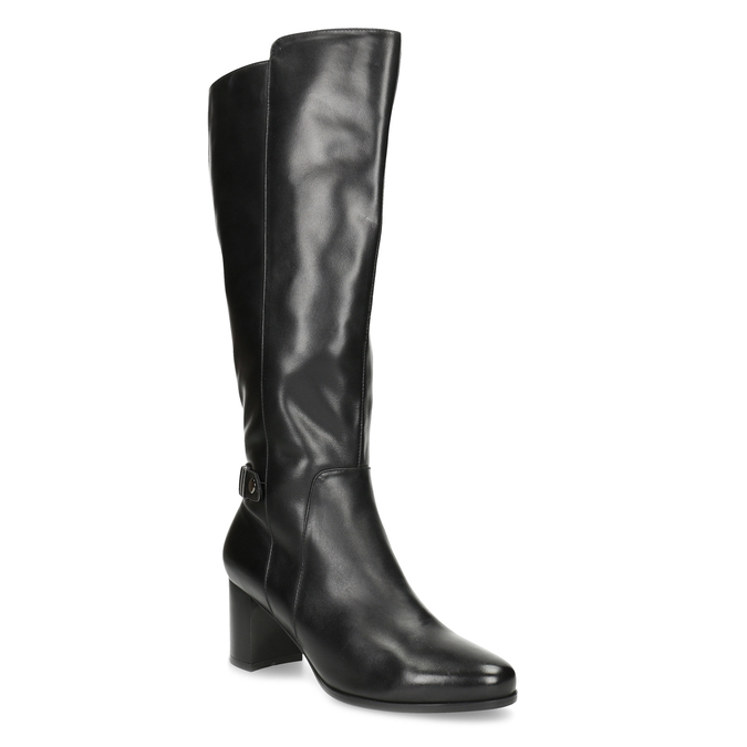 Ladies' Leather High Boots bata, black , 694-6639 - 13