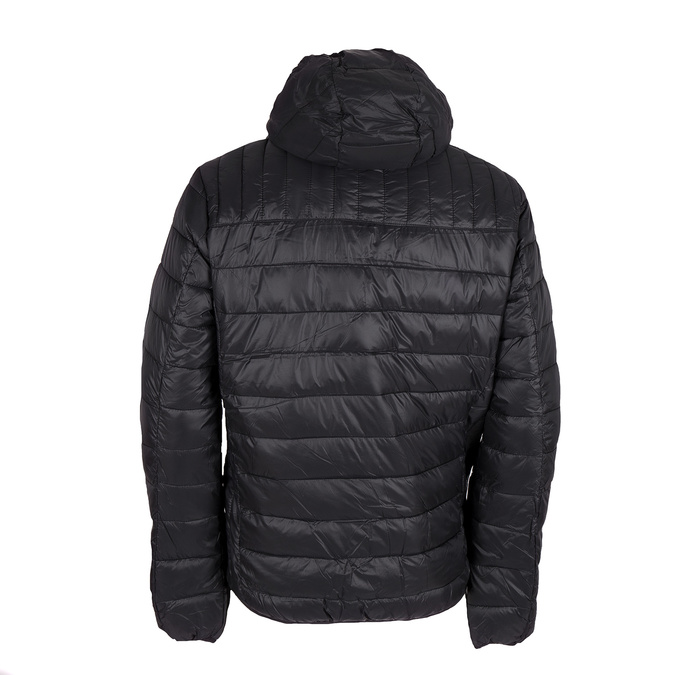Men's quilted jacket with hood bata, black , 979-6143 - 26