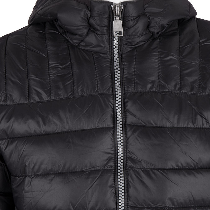 Men's quilted jacket with hood bata, black , 979-6143 - 16